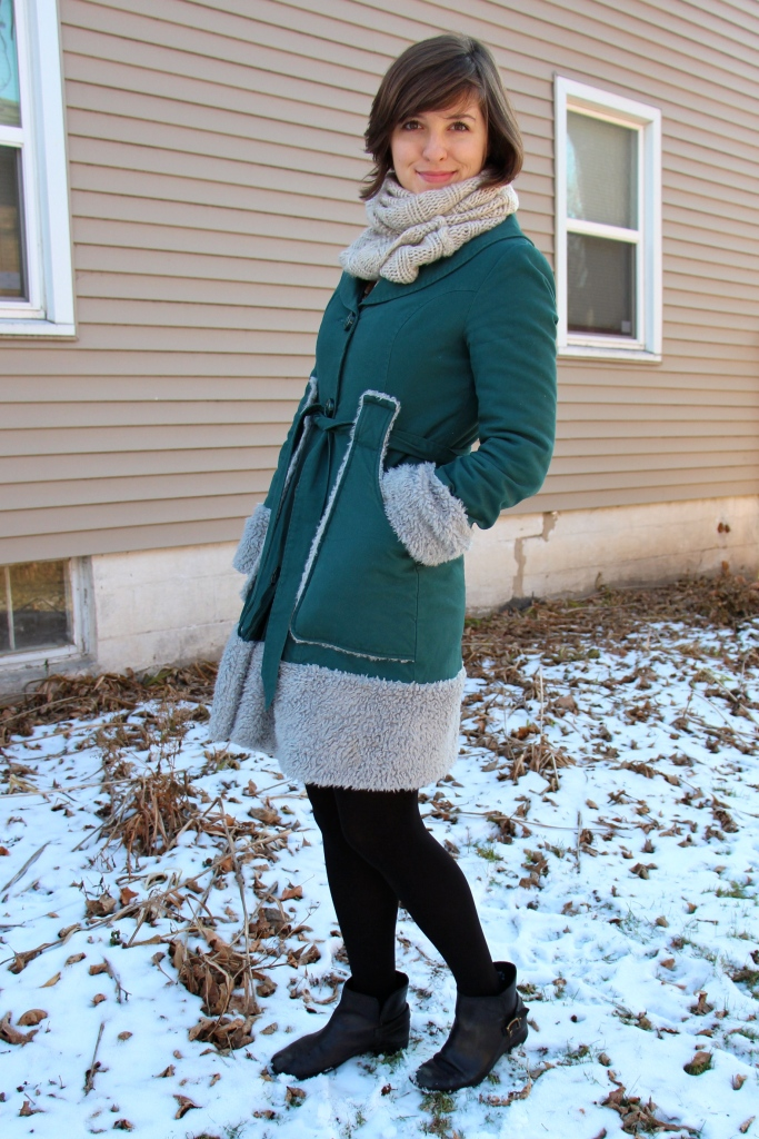 Coat- Anthropologie Tights- Spanx (shopbop) Scarf- H&M Shoes- Fossil