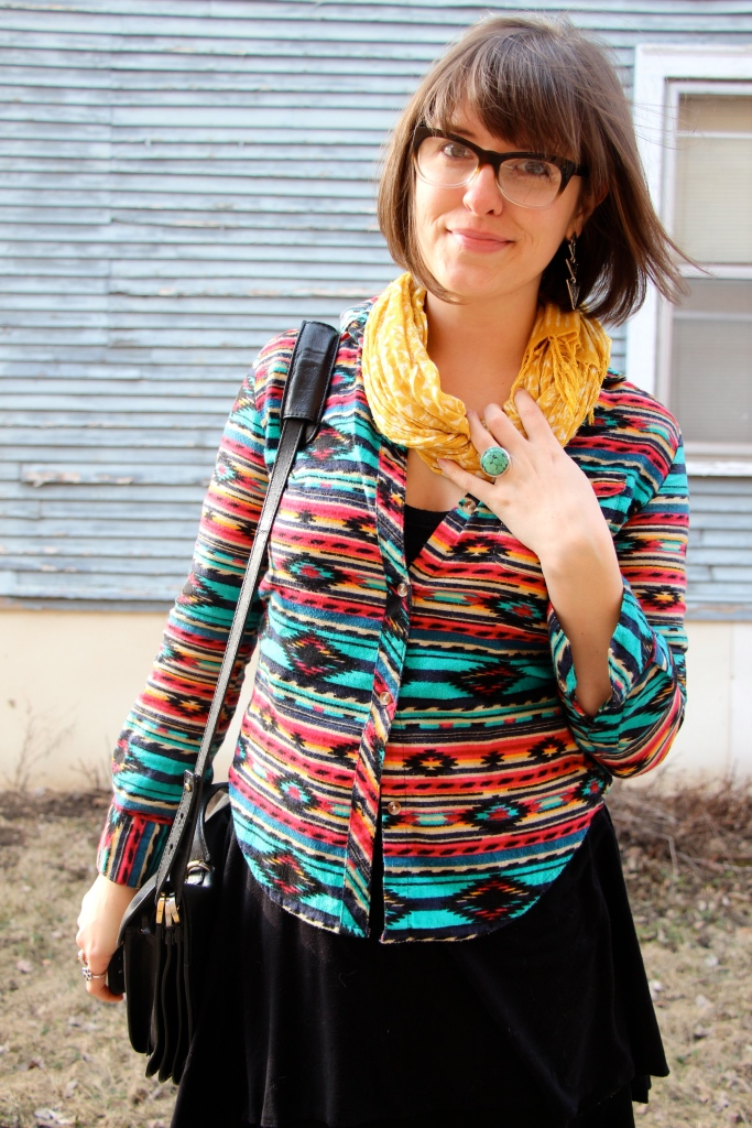 Aztec Pattern Flannel