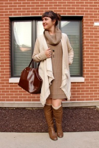brown fringe poncho