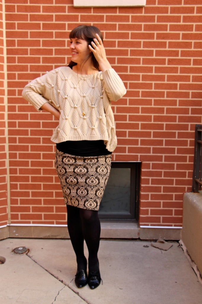 chunky thrifted sweater 2