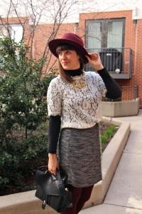 grey fringe skirt 2