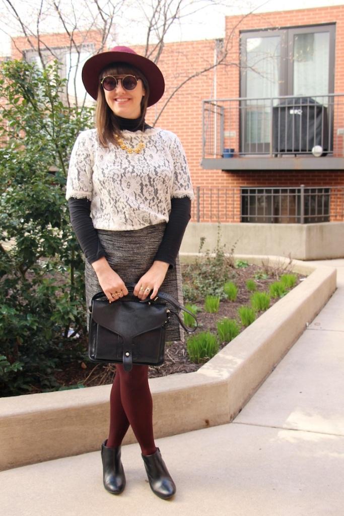 grey fringe skirt 3