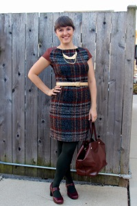 plaid leather dress 2