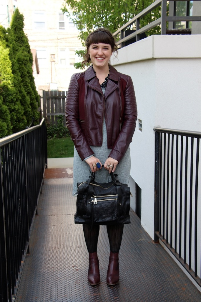 oxblood leather jacket