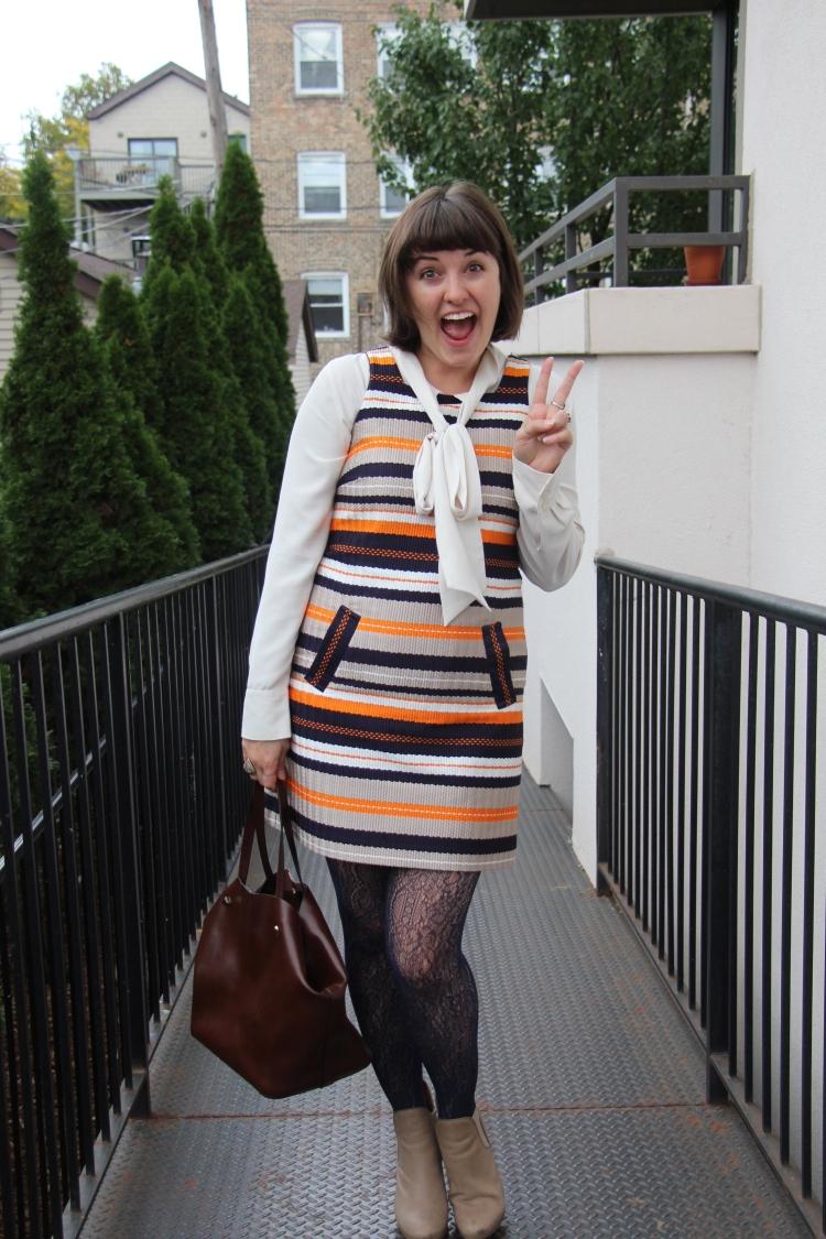 tie-front-blouse-vintage-dress